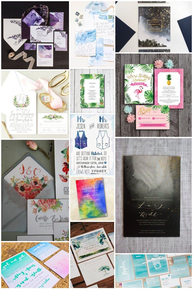 Gay Wedding Blog - Watercolour Wedding Invitations