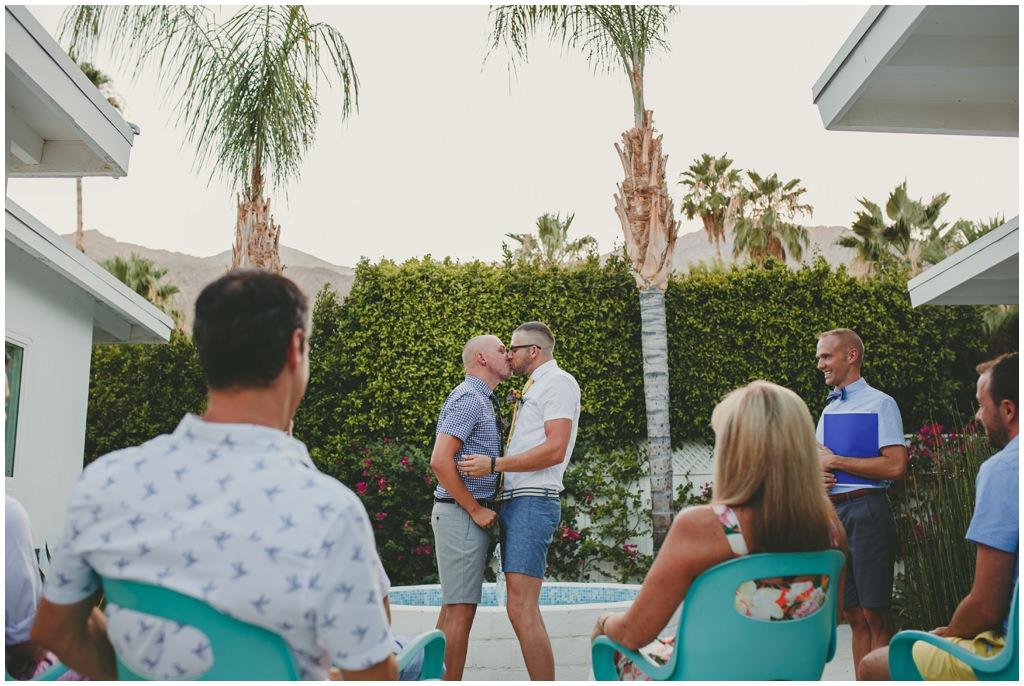 Palm Springs gay elopement - gay wedding blog