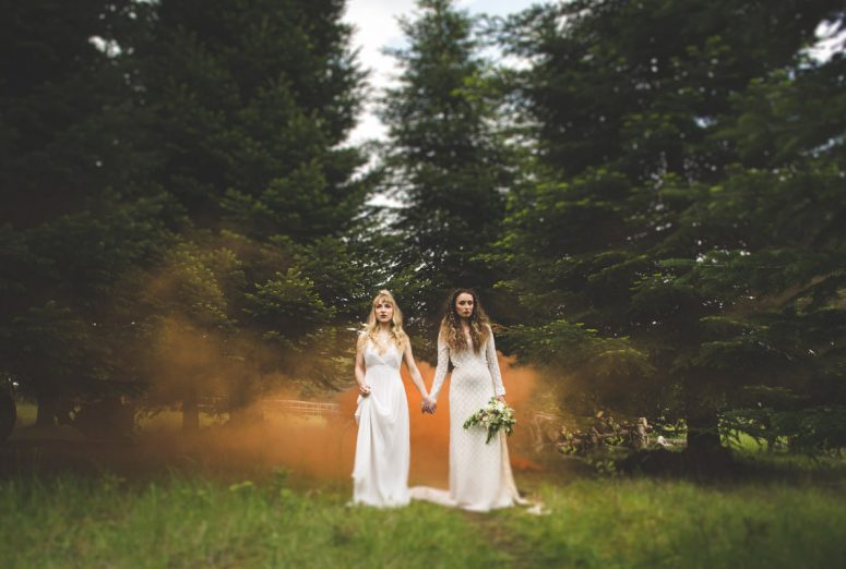 gay wedding blog, same sex wedding, boho gay weding, sme sex styled shoot, two brides