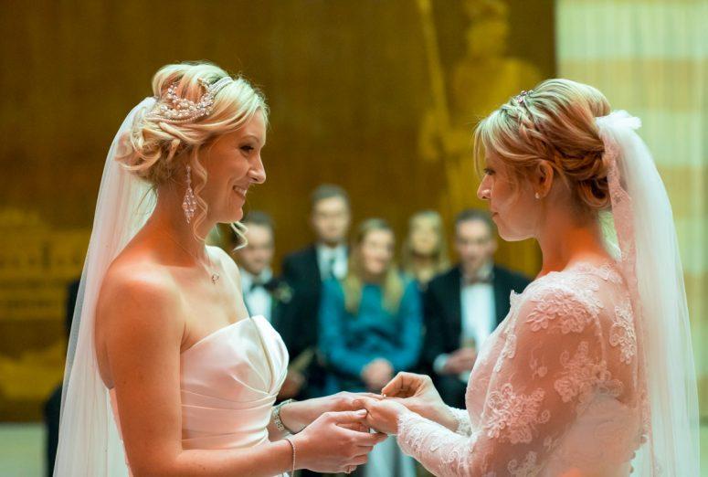 gay wedding blog, same sex wedding, art deco wedding, Eltham Palace gay wedding, two brides