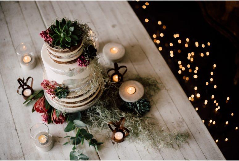 Rustic wedding same sex styled shoot - cake
