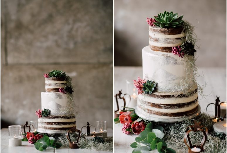 Rustic wedding same sex styled shoot - cake
