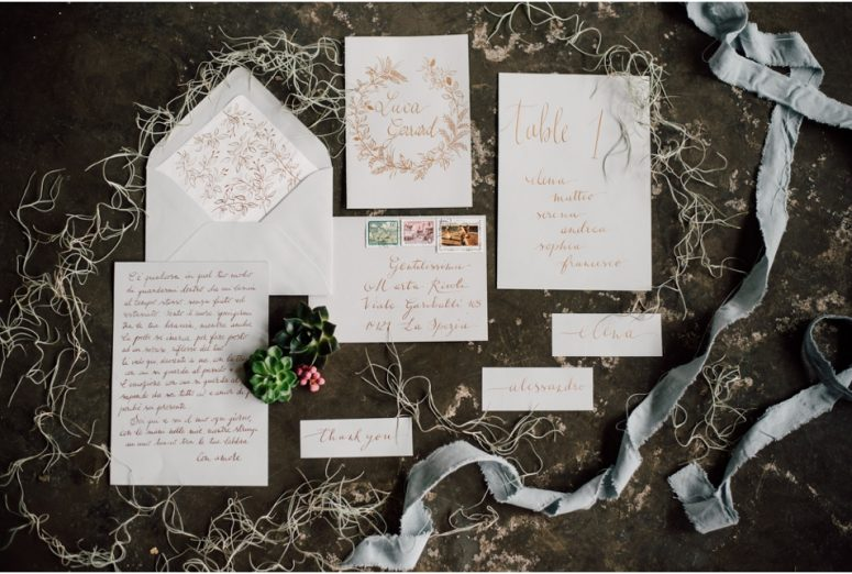 Rustic wedding same sex styled shoot - stationery