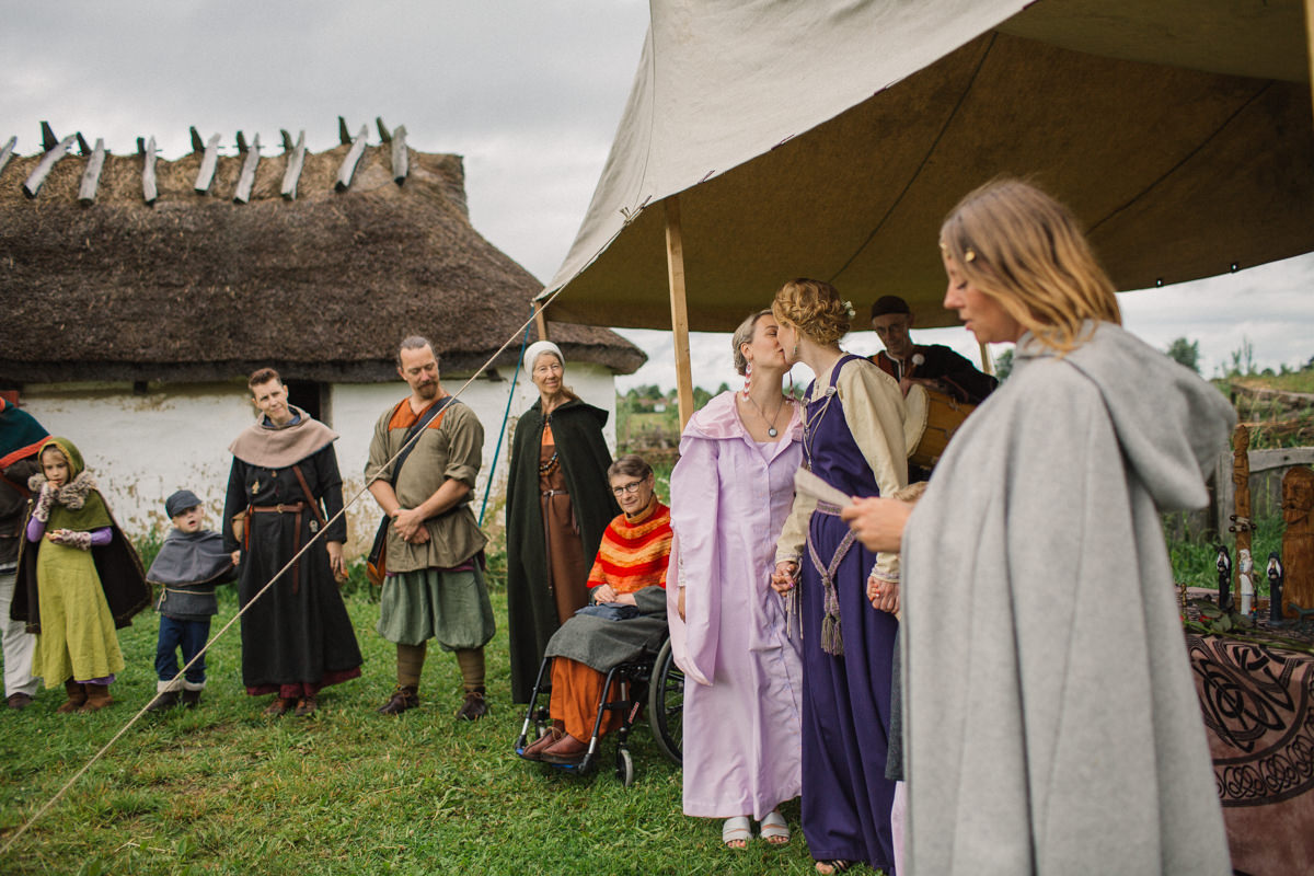 same sex viking wedding