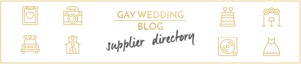 Gay Wedding Blog - Supplier Directory banner
