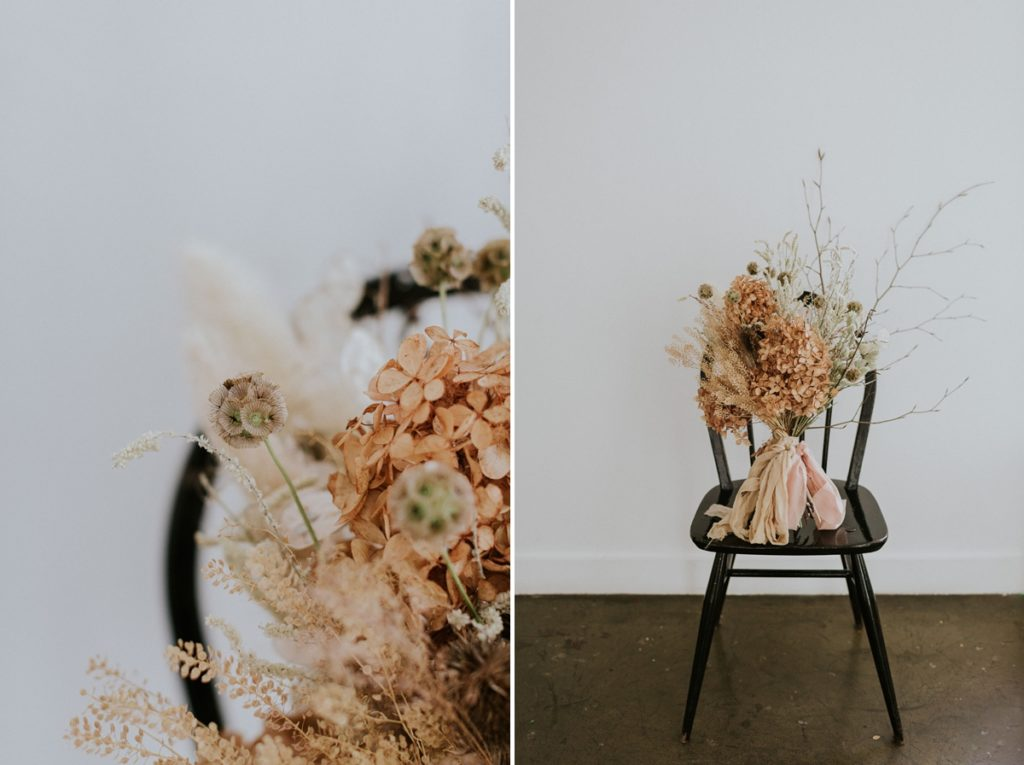 Dried wedding flowers on a chair - Wedding Trends analysis by The Stars Inside