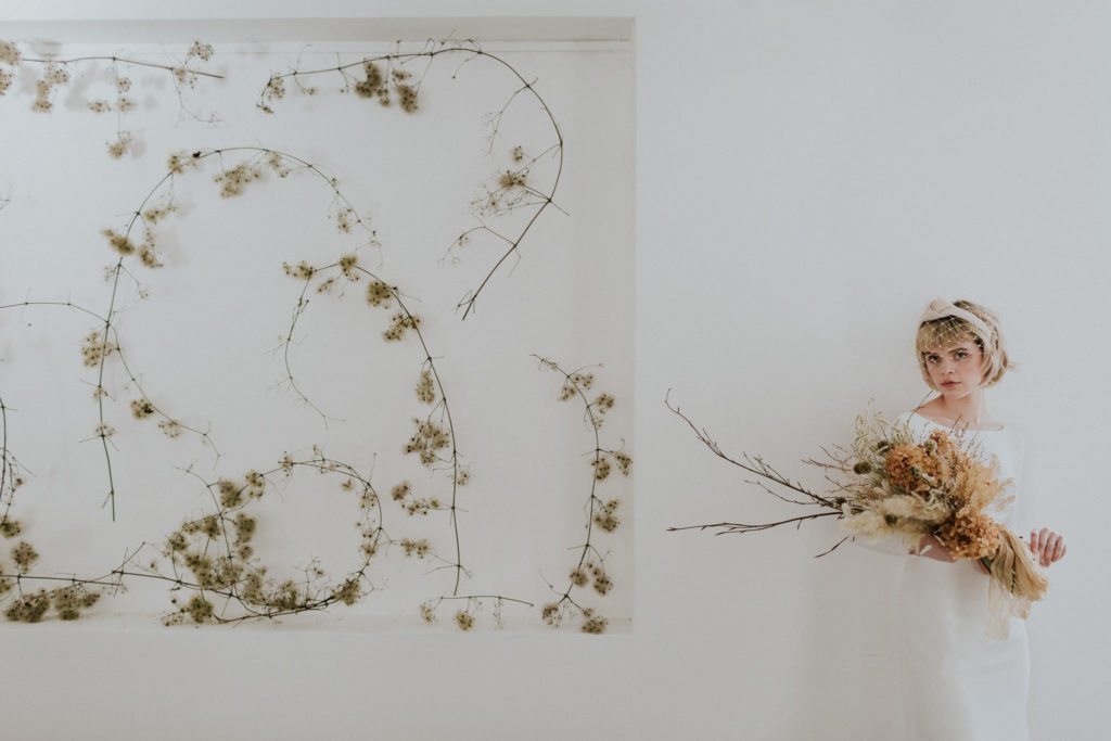 bride holding dried flower bouquet - Wedding Trends analysis by The Stars Inside